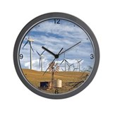 Blue Wind Wall Clock