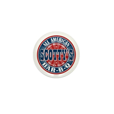 Scotty's All American BBQ Mini Button (10 pack)