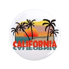 "California Sunset Souvenir 3.5"" Button (100 pack)"
