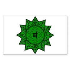 Heart Chakra Mandala Rectangle Sticker 10 pk)