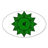 Heart Chakra Mandala Oval Decal