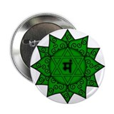 "Heart Chakra Mandala 2.25"" Button (10 pack)"