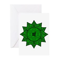 Heart Chakra Mandala Greeting Card
