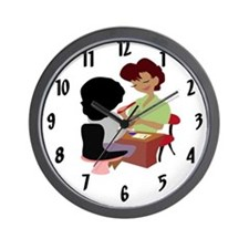 Nail Tech Wall Clock