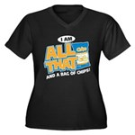 All That Women's Plus Size V-Neck Dark T-Shirt