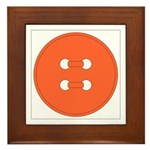 Orange Button Framed Tile