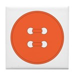 Orange Button Tile Coaster
