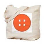 Orange Button Tote Bag