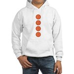 Orange Buttons Hooded Sweatshirt