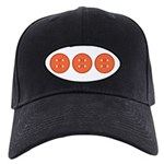 Orange Buttons Black Cap