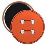 Orange Button Magnet
