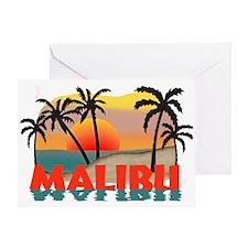 Malibu Beach California Souvenir Greeting Card
