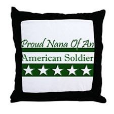 Nana of an American Soldier Throw Pillow