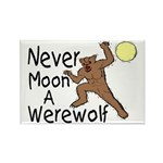 Moon A Werewolf Rectangle Magnet