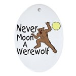 Moon A Werewolf Oval Ornament