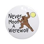 Moon A Werewolf Ornament (Round)
