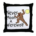 Moon A Werewolf Throw Pillow