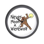 Moon A Werewolf Wall Clock