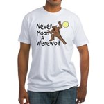Moon A Werewolf Fitted T-Shirt