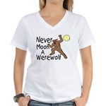 Moon A Werewolf Women's V-Neck T-Shirt