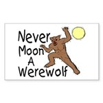 Moon A Werewolf Rectangle Sticker
