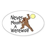 Moon A Werewolf Oval Sticker