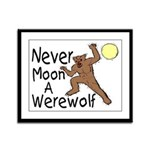 Moon A Werewolf Framed Panel Print