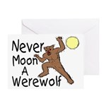 Moon A Werewolf Greeting Card