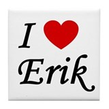 I Heart Erik Tile Coaster