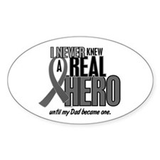Never Knew A Hero 2 Grey (Dad) Oval Decal