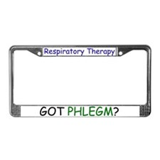 Unique Respiratory therapy License Plate Frame