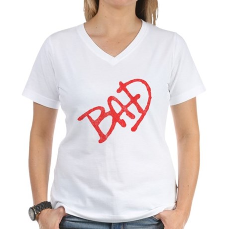 Bad (vintage) Womens V-Neck T-Shirt