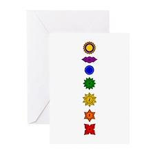 Chakra Mandala Line Greeting Cards (Pk of 20)