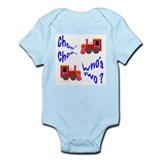 2 Year Old Birthday Train Infant Bodysuit