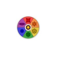 Chakra Color Wheel Mini Button