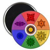 "Chakra Color Wheel 2.25"" Magnet (100 pack)"