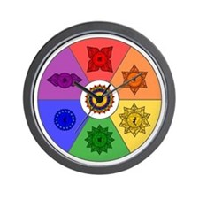Chakra Color Wheel Wall Clock