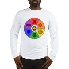 Chakra Color Wheel Long Sleeve T-Shirt