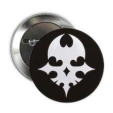 """TWEWY Skull (Black) 2.25"""" Button"""