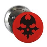 "TWEWY Skull (Red) 2.25"" Button"