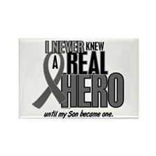 Never Knew A Hero 2 Grey (Son) Rectangle Magnet