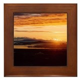 Auckland City Dawn Framed Tile