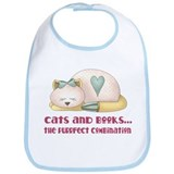 Cute Cats And Books Bib