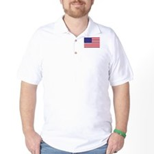 American Flag Polo Shirt