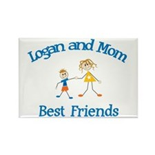 Logan and Mom - Best Friends Rectangle Magnet