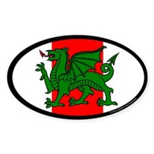 Midrealm Ensign Oval Sticker (10 pk)
