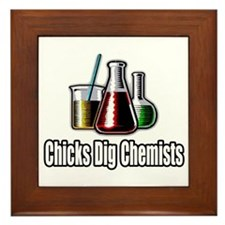 """Chicks Dig Chemists"" Framed Tile"