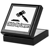 &quot;Chicks Dig Lawyers&quot; Keepsake Box
