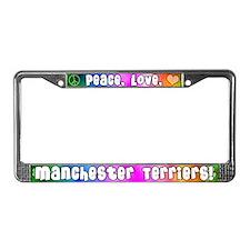 Hippie Manchester Terrier License Plate Frame