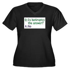 Cute Financiers Women's Plus Size V-Neck Dark T-Shirt